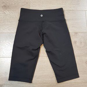 Lululemon Black Spandex Shorts Long Size 4